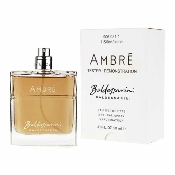 tester baldessarini ambre edt  ml